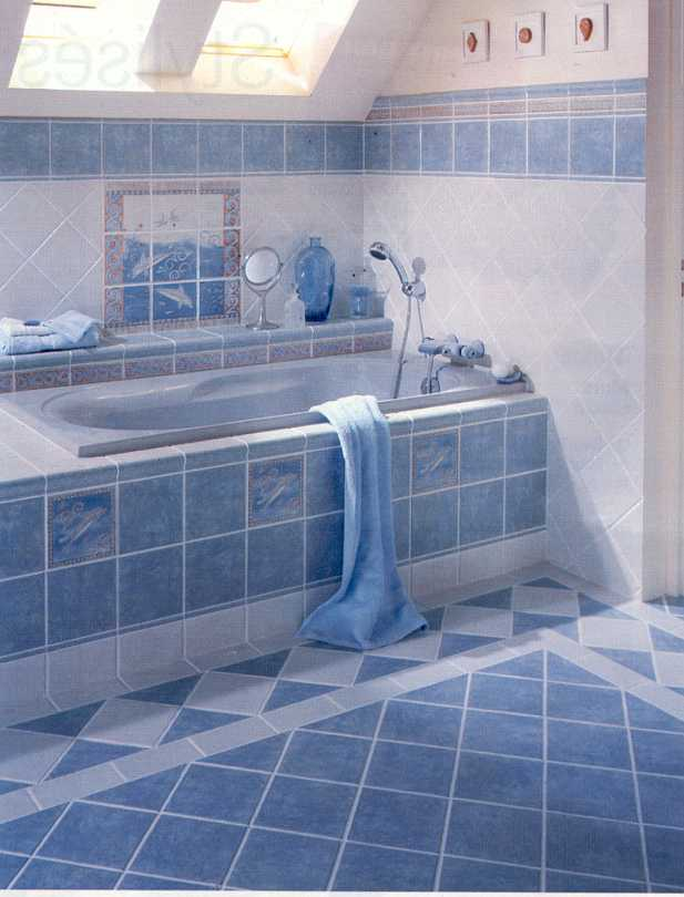 Bathroom carrelage salle de maison jardin for Photos salle de bain carrelage