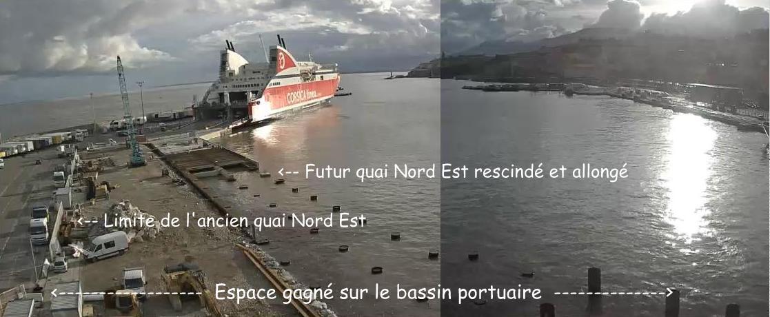 Montage Romain Roussel d'après webcam du port de Bastia (25/11/2016)