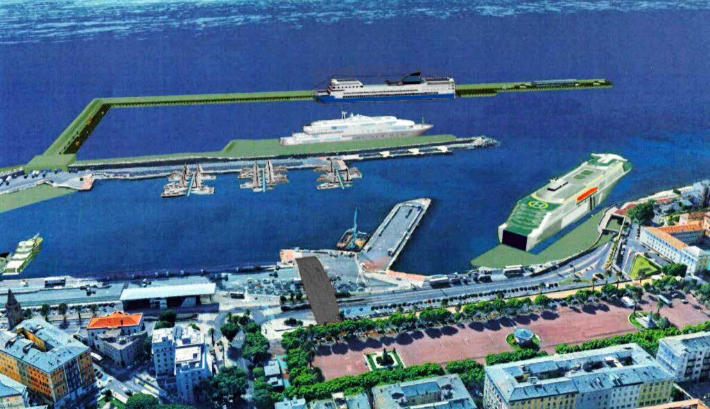 Nouveau Port De Bastia Carbonite Ou Digue Semi Flottante Sur Le