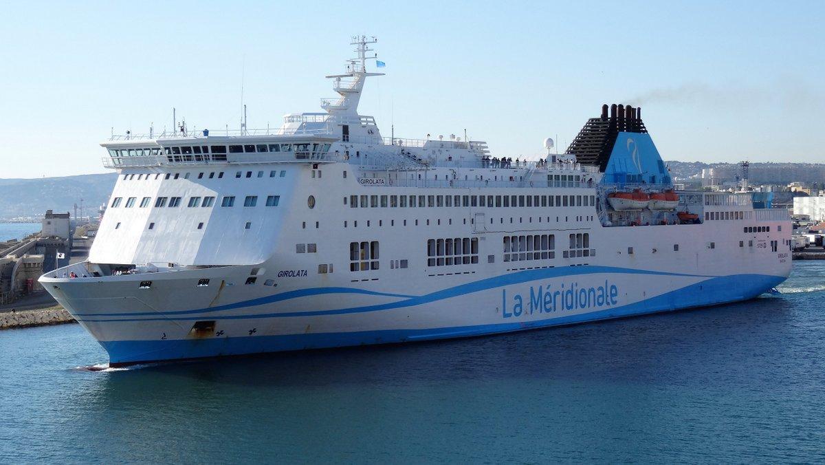 Le départ du Girolata de Marseille, en juin 2016 ; photo : Jean-Pierre Fabre.