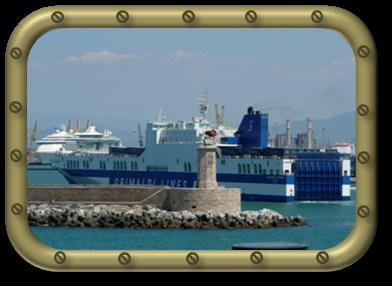 La jetée du port de Livorno