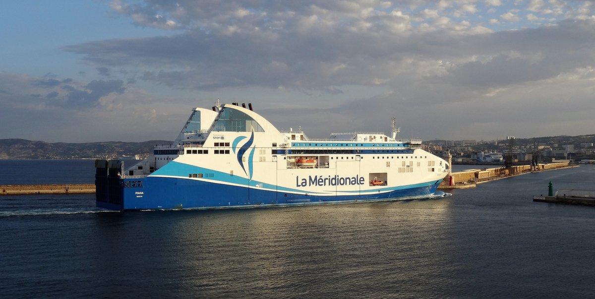 L'arrivée à Marseille du Piana, en avril 2018 ; photo : Jean-Pierre Fabre.