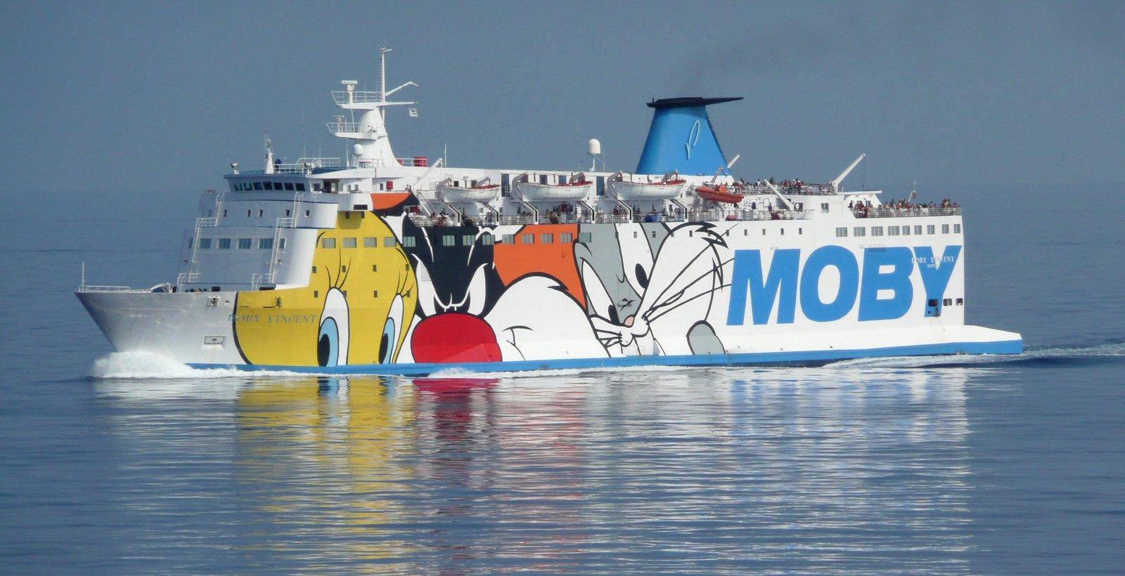 Le Moby Vincent en mer, en juillet 2013