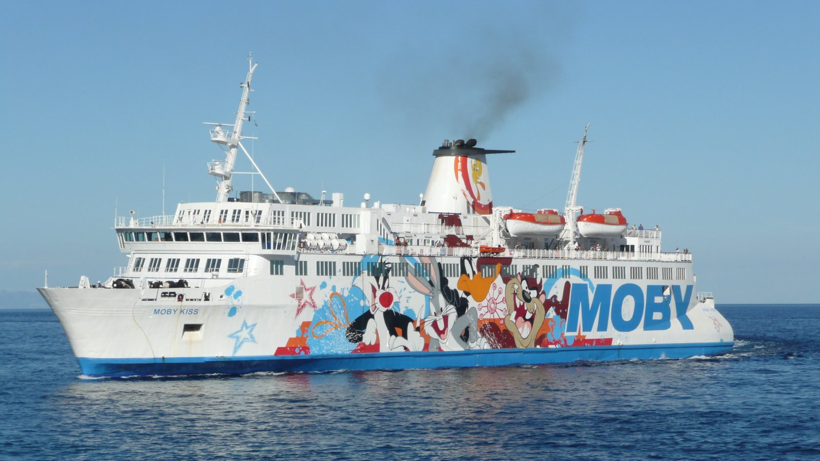 L'arrivée du Moby Kiss à Bastia en juillet 2016 ; photo : Romain Roussel