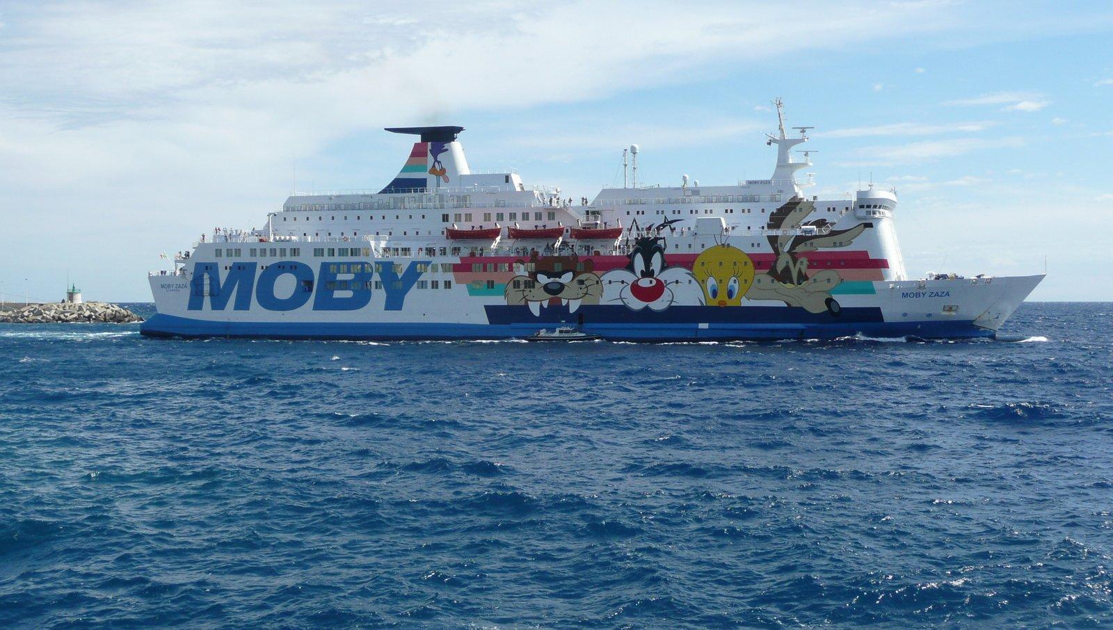 Le départ du Moby Zazà de Bastia en août 2016 ; photo : Romain Roussel