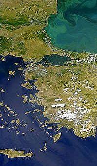 Asie Mineure par satellite