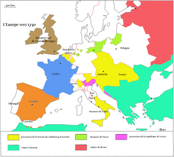 carte europe xviiie siecle vierge