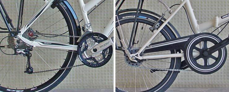 comparaison dérailleur et moyeu intégré - © www.LesVelosDePatrick.com tous droits réservés