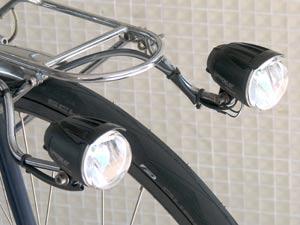 2 phares avant dynamo moyeu