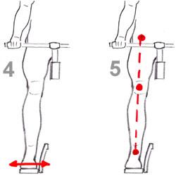 alignement hanche genou talon