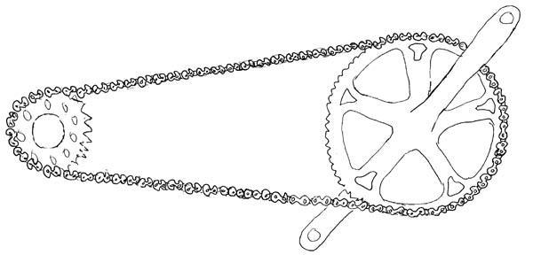 illustration singlespeed 1 - © www.LesVelosDePatrick.com tous droits réservés