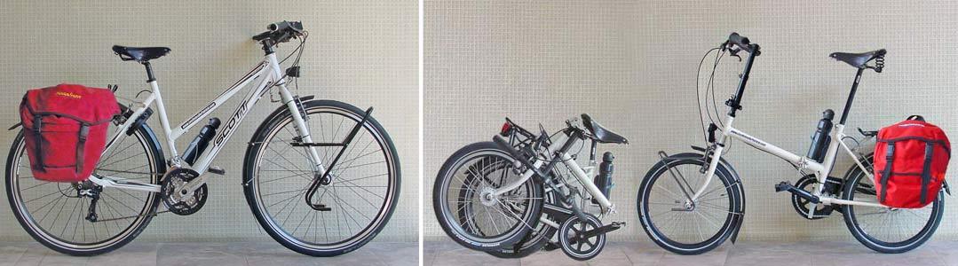 vélos de randonnée, pliant et classique - © www.LesVelosDePatrick.com tous droits réservés